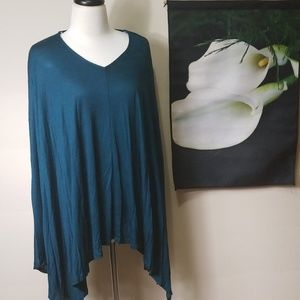Women's Dark Teal Poncho Tunic